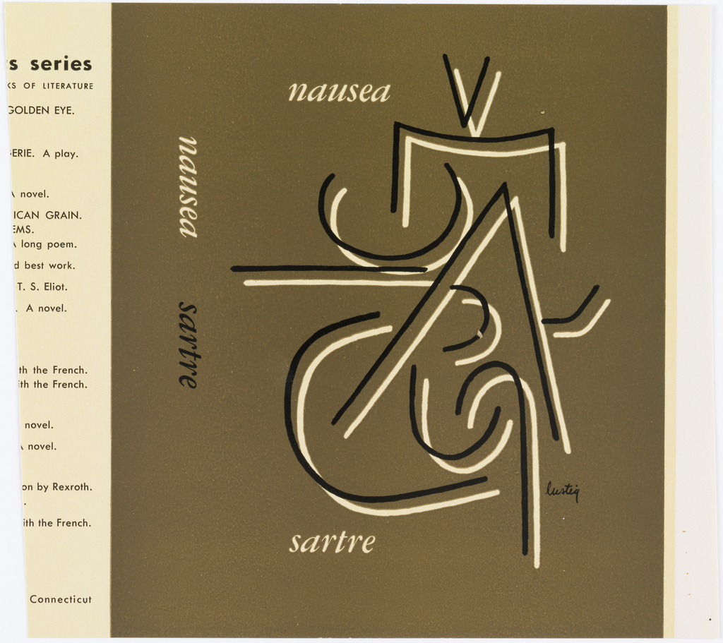 Book Cover, Nausea by Sartre, 1951 Objects Collection of Cooper Hewitt, Smithsonian Design Museum