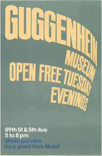 Poster, Guggenheim Museum, 1975