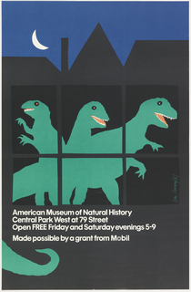 Poster, Mobil, American Museum of Natural History