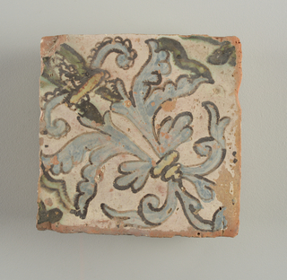 30 tiles, leafy pattern with bud