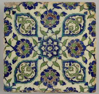 Wall Tile (Ottoman Empire (present day Syria))