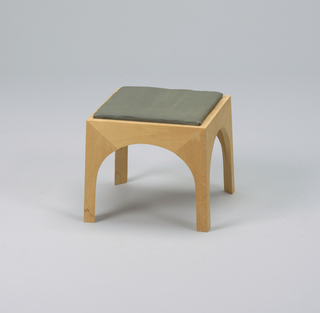 Square stool with cushion