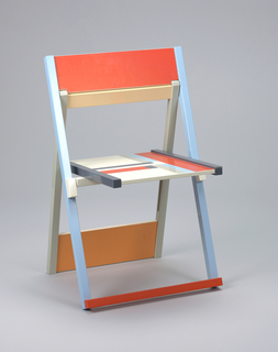 folding chair mounted with wall bracket