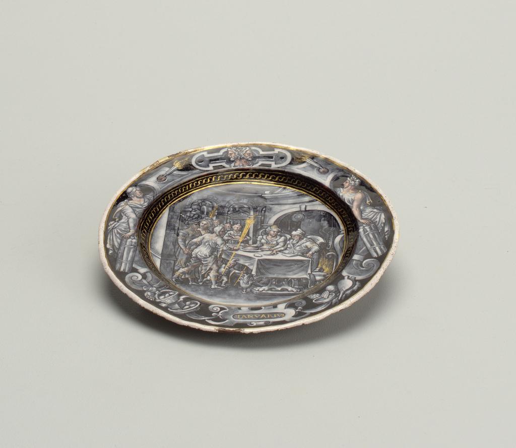 Ianvarivs (January) Plate