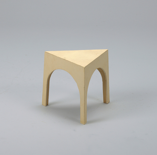 Triangular stool.