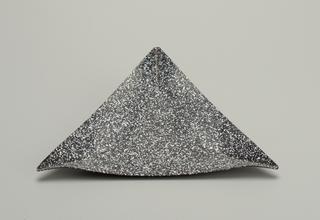 black triangular tray