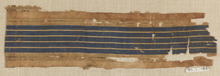 Striped cloth.