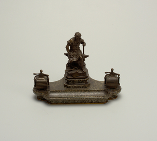 """Le Travail"" (""Work"") Inkstand, late 19th century"