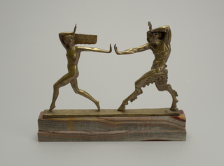 Nymph and Satyr Sculpture, ca. 1925
