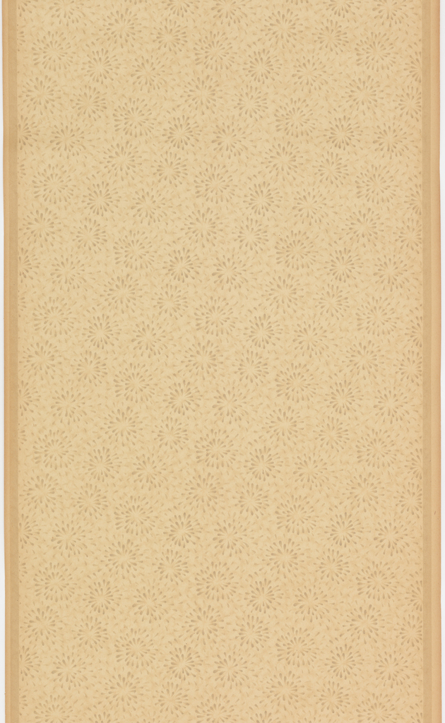 Small stylized floral design. Printed in shades of tan on ungrounded paper.