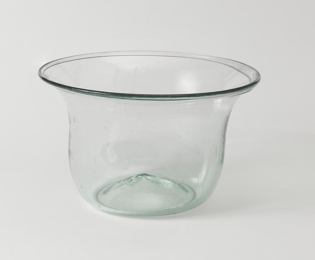 Pale green glass bowl.