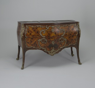 Wood commode with marble top ( component C).