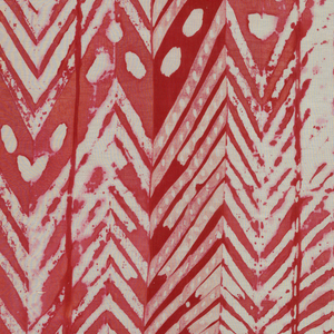 Red and white herringbone-like pattern.
