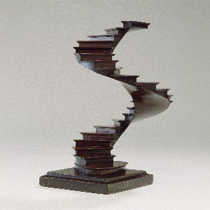Spiral staircase model in English style.