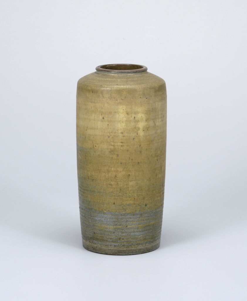 "Ceramic from 10th National Ceramic Exhibition, Syracuse 1941 as follows: ""Large stoneware vase by Maija Grotel"""