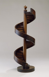 Spiral staircase model with two revolutions.