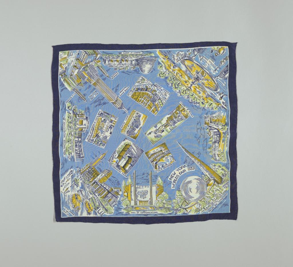 Souvenir scarf from the New York Worlds Fair 1939.