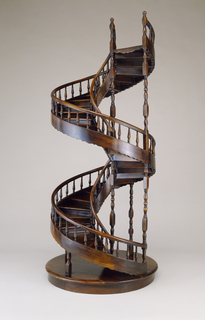 Double revolution spiral staircase model.