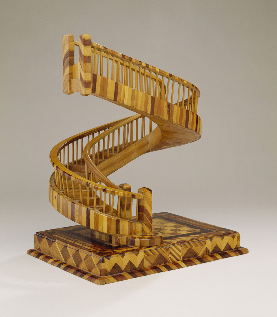 Circular Staircase Model In The French Style.