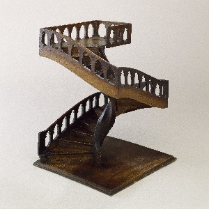 Staircase model in French style.