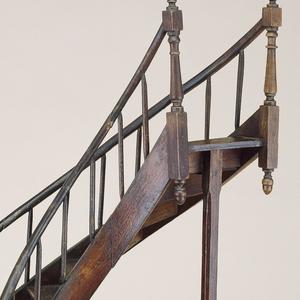 Semi-circular staircase model.