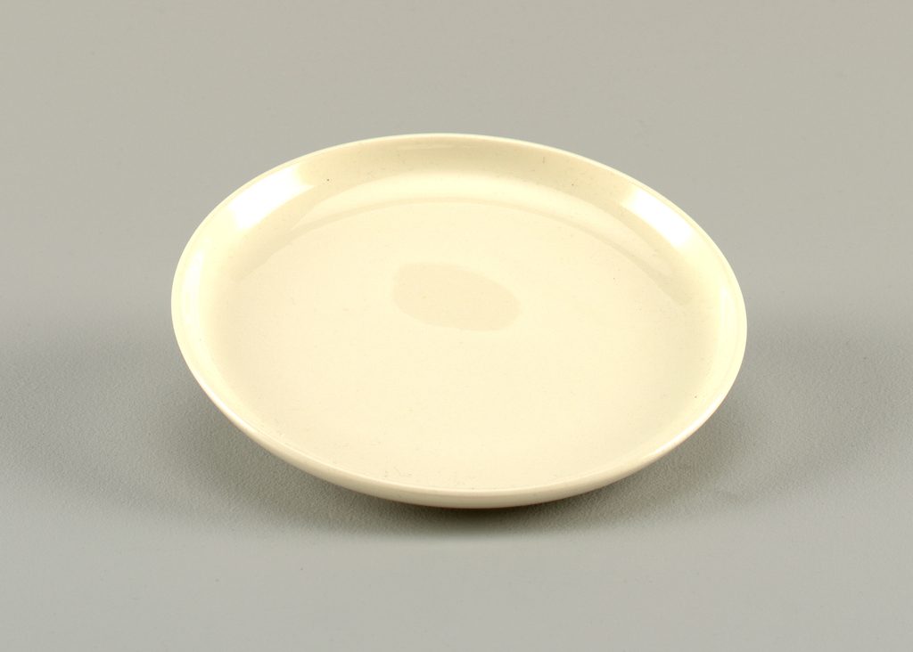 Glazed white plate.