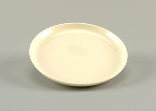 Glazed white plate.
