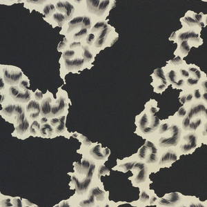 Design said by manufacturer to be an 'animal skin design in black, gray and white.
