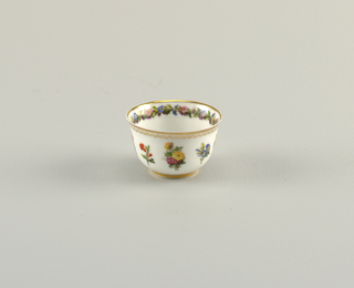 Cups with Floral Pattern Cups, ca. 1830