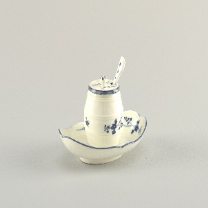 Mustard Pot, Cover, Stand, And Spoon (France), ca. 1750
