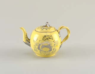 teapot, spherical form  Lid is with teapot, numbered as a and b, lid is b