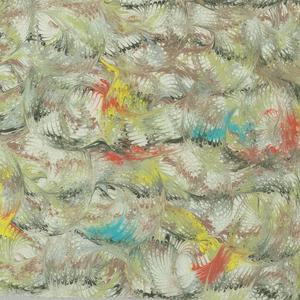 Three samples of marbleized silk. Pattern C-3443.