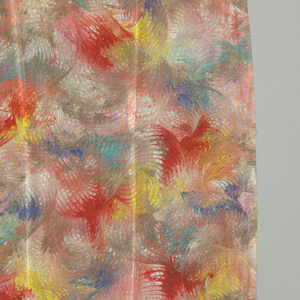 Four samples of marbleized silk.  [2008]