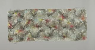 Three samples of marbleized silk. Pattern J0422.