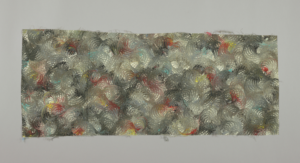 A sample of marbleized wool. Pattern J0422.