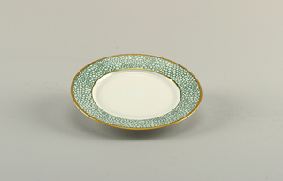 """Galluchat Green"" Plate, ca. 1987"