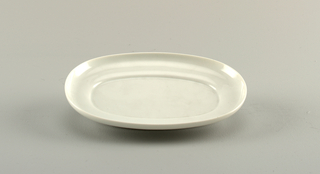small oval dish.