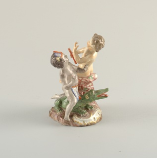 """Allegorical Figure Depicting Putti as """"Europe"""" and """"America"""" Figure, late 18th century"""