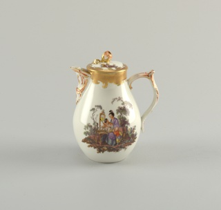 Covered Milk Jug with Chinoiserie Vignettes Milk Jug