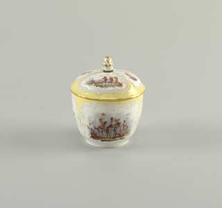 "Sugar Bowl with Battle Scenes (""Bataillen-Malerei"") Sugar Bowl"