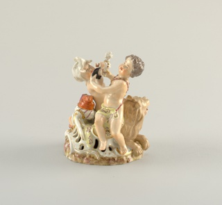 This piece shows Asia and Africa as putti.