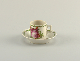 "Cup and Saucer with ""Ostfriesische Rose"" Pattern Cup And Saucer"