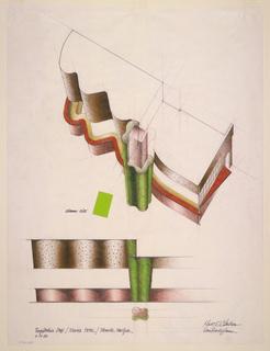 Drawing, Design for Registration Desk, Nevele Hotel, Ellenville, NY