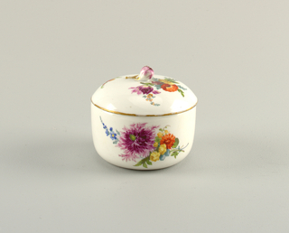 Covered Sugar Bowl with Flowers Sugar Bowl