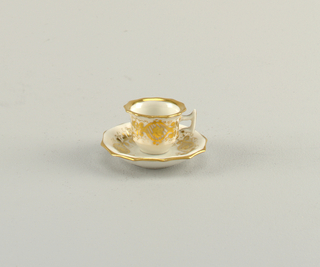 Miniature Cup and Saucer Cup And Saucer, 1830–1860