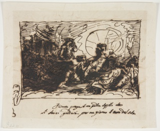 Drawing, Phaeton Asks Apollo to Drive the Sun Chariot, 1812
