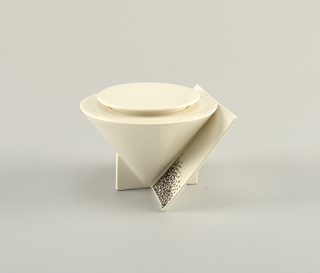 """Angle"" Sugar Bowl And Cover, 1988"