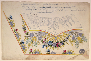 Drawing, Design for Embroidery of a man's waistcoat