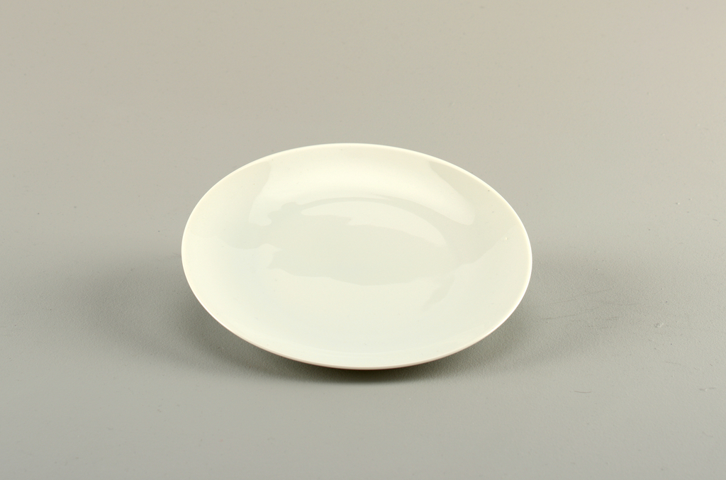 Simple white porcelain plate.
