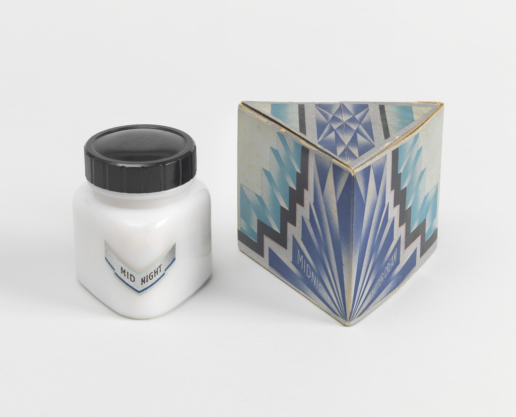 Midnight Cocoa Butter Cream Jar And Packaging, ca. 1928